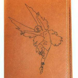 Fairy Refillable Leather Notebook Cover Cinnamon