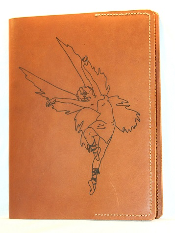 Fairy Refillable Leather Notebook Cover – Large (Cinnamon)