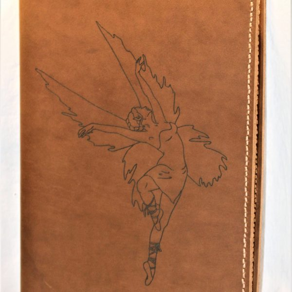 Fairy Refillable Leather Notebook Cover – Large (Mottled Brown)
